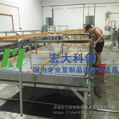 小型腐竹机多少钱一台 佛山腐竹油皮生产线 宏大科创提供上门教技术