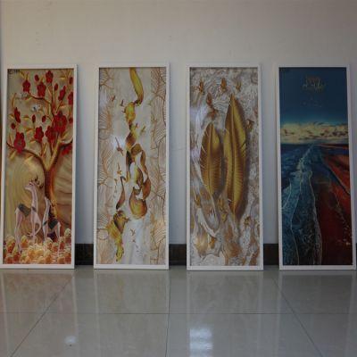 玻璃推拉门彩印机 玻璃隔断门3d打印机 玻璃浴室柜平板喷绘机