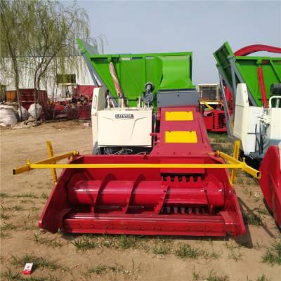 高产低耗全自动收割粉碎青储一体机 牛羊养殖饲料多功能铡草揉丝机