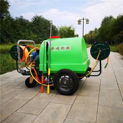 热销旭阳汽油推车打药机 远射程果园喷雾机 高压管水柱喷射机