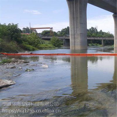 河道垃圾治理塑料浮筒 水上围栏清渣浮栅方案介绍