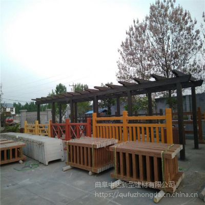烟台水泥预制景观仿木护栏 水泥仿木栏杆价格
