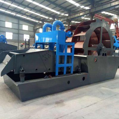 发往福建洗沙机 碳钢轮斗式洗砂机 高效双螺旋洗砂机现货