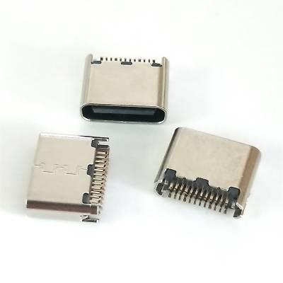 夹板式 TYPE-C 母座 24P 夹板0.8 超短体 US