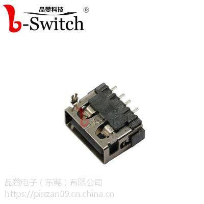USB AF 短体前插后贴 无边10.0×12.5×5.12mmUSB AF 短体180度 鱼叉有边