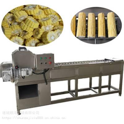 热销连续式玉米切段机 全自动鲜玉米切段设备 玉米加工设备