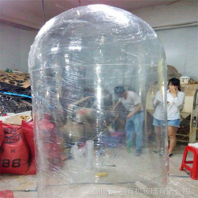 飞剑亚克力工厂加工制作胶囊模型直径5.5米拼接工艺