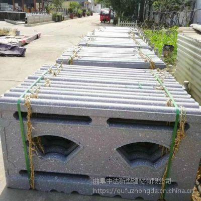 水泥仿石栏杆价格/钢筋混凝土预制仿石河道护栏 五孔型小护栏
