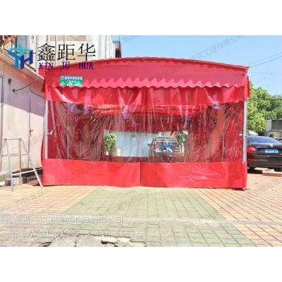 广东自动伸缩雨篷仓库推拉雨棚 布夜宵烧烤帐篷质量怎么样