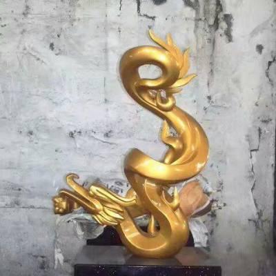 大型不锈钢雕塑厂家 金属龙标志雕塑 不锈钢龙标志雕塑厂家
