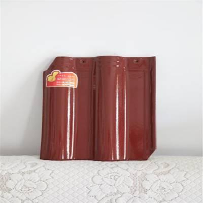 华晨陶瓷瓦 古建青瓦 优质连锁瓦 陶瓷瓦片