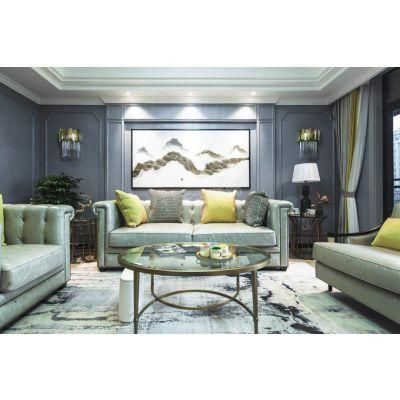 天古装饰设计师艾柯,重庆渝北龙湖花园洋房装修工地 美式轻奢风格