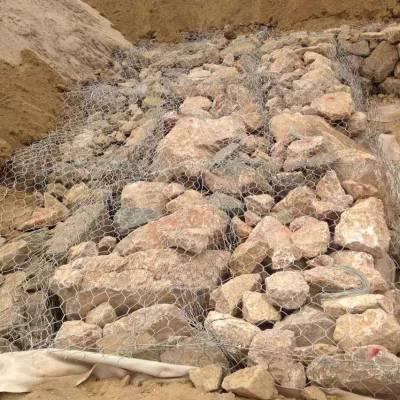 泥石流冲毁路基石笼网 、 冰川积雪消融泥石石笼网 、 拦泥石流和护床固坝石笼网箱、石笼护垫