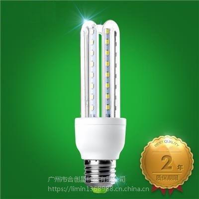 厂家直供合创星LED灯泡 E27大螺口明亮LED玉米灯 U型节能灯5W7W9W12W24W30W