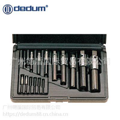 台湾德盾DEDUM 进口三槽断丝锥取出器组套 手动取断丝攻丝锥取出器