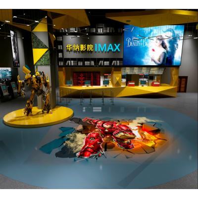 个性化定制商业商场会所使用3D渗墨新材料打印地面