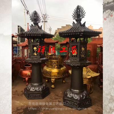 厂家直销寺庙铸铜油灯/寺院大型铜油灯定制
