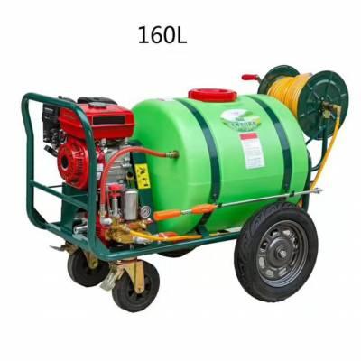 科圣汽油拉管式打药机-农用手推式打药机-农用推车式风送打药机