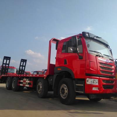 336挖机拖车厂家直销前四后八平板运输车1.0L排量