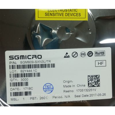 SGM809-SXN3L/TR SGMICRO SOT23 丝印809SL