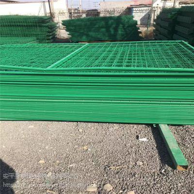 铁路防攀围栏网 桥梁防抛网 1.8*3米框架护栏网