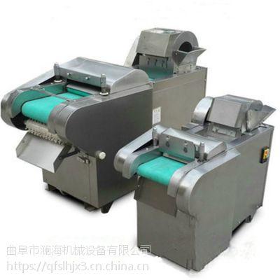 全自动果蔬切菜机图片 冻羊肉切片排骨切段切菜机 澜海厂家
