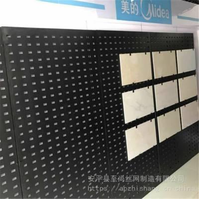 地砖网孔板展具 展板冲孔网 防护网展示架生产厂家