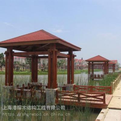 户外景观实木板材-上海木材户外凉亭-港榕木结构