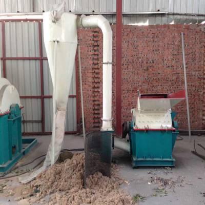 直销 小型锤片式木材粉碎机 废模板 家具下脚料粉碎机 木粉机