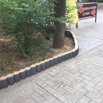 水泥仿木树桩 河道挡土仿木桩围栏 树桩石草坪小护栏 徐州厂家大量出售