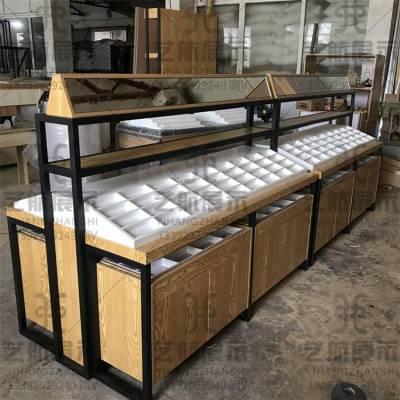 安康紫阳烤漆眼镜展示柜台效果图设计方案