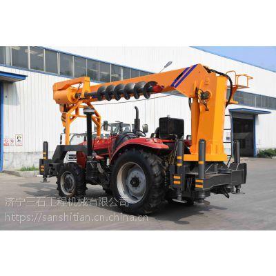 一车多用拖拉机吊 客户自己买拖拉机头 直接到厂来安装吊机