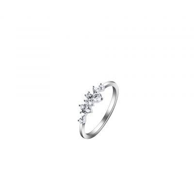 伊泰莲娜品牌微镶锆石花瓣铜戒指女式 专供欧美纯银防过敏首饰来图定制