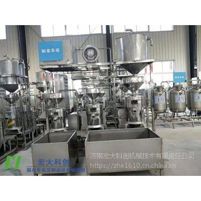 适用于日产千斤豆制品设备的三连磨浆系统|宏大科创三组连续磨浆设备