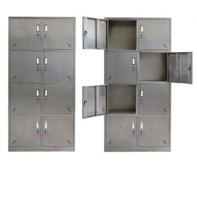 江西定制不锈钢更衣柜定制员工储物柜带锁存包柜碗柜鞋柜浴室无尘车间柜子定做