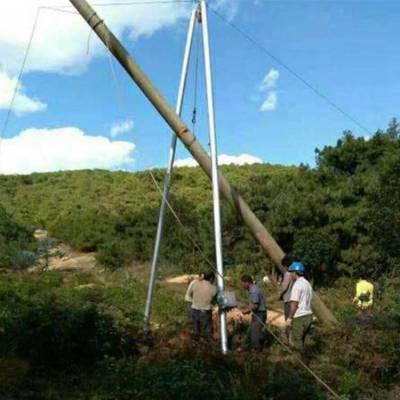 铝合金三角架立杆机 电力抱杆扒杆 手摇三脚架配件 立电杆8-15米