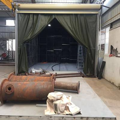 大型翻新处理室内作业设备 石家庄自动回收式喷砂房