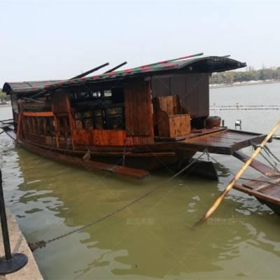 四川成都木船厂家定制8米防腐景观红船