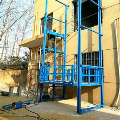 柳州市导轨升降货梯 仓库2层3吨导轨式液压举升机