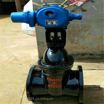 Z941T-10 DN150电动铸铁明杆闸阀大口径电动铸铁楔式法兰闸阀