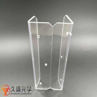 6mm透明pc板折弯雕刻加工 防静电高耐磨pc板保护罩工件生产厂家